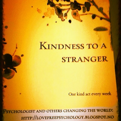 My interviews are about kindness. I ask the same three questions to discover why people do kind things to each other